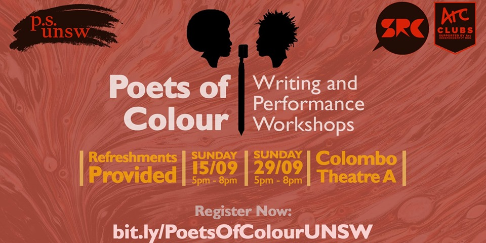 workshops - Poets of Colour | Writing and Performance Workshops by Poetry Society UNSW